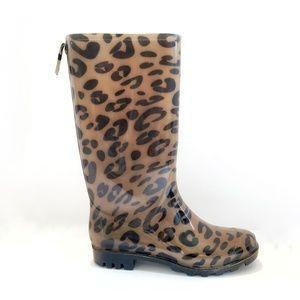 Capelli Rain Boots Leopard Print | Snow Galoshes